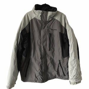 Columbia Mens Grey Winter Jacket Large